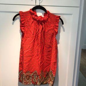 Tibi size 8 sleeveless blouse
